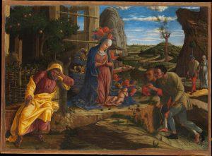 Andrea Mantegna L'adoration des bergers MET Museum New York