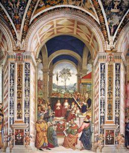 Pinturicchio Le pape Pie II au concile de Mantoue Museo del Opera del Duomo Sienne Image Web Gallery of Art