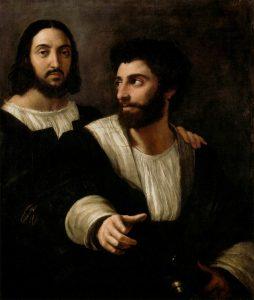 Raphael Autoportrait avec Giulio Romano Musée du Louvre © Musée du Louvre/A. Dequier - M. Bard