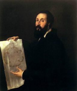 Tiziano Vercello portrait de Giulio Romano Huile sur toile 101 x 86 cm Palazzo della Provincia, Mantoue