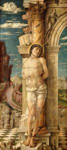 Andrea Mantegna Vers 1470-1475 Bois; H. : 68 cm ; L. : 30 cm Vienne, Kunsthistorisches Museum, inv. 301 © Kunsthistorisches Museum, Vienna Image provenant du site de l'exposition Mantegna au Louvre