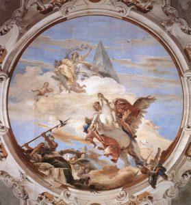 TIEPOLO Giovanni Battista 1696-1770 Bellérophon et Pégase Venise Palazzo Labia