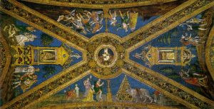 Pinturicchio Appartement Borgia Salle des Saints Voûte épisodes de Mercure Isis et Moise