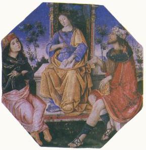 Appartement Borgia Pinturicchio Salle des Saints Isis, Hermes Trismegiste et Moïse Image Wikimedia