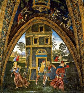 Appartement Borgia Pinturicchio Salle des Saints Martyre de Sainte Barbara Image Wikimedia