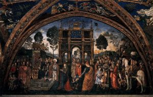 Appartement Borgia Salle des Saints Pinturicchio Dispute de Sainte Catherine Image Wikimedia