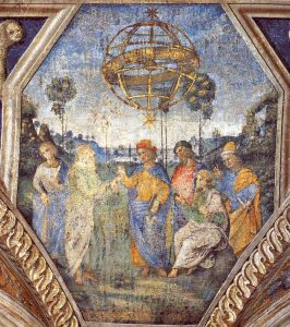 Appartement Borgia Salle des Sybilles Astrologie Pinturicchio Image Wikimedia