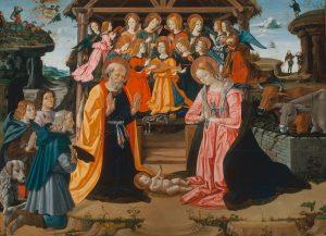 Fiorenzo di Lorenzo 1445 - 1525 Adoration des bergers 1490 Inv.Nr. 178 Perugia, Galleria Nazionale dell'Umbria Image AKG
