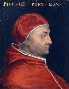 Pape Pie III (Cardinal Francesco Piccolomini) Collection Joviana Musée des Offices Florence