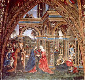 Pinturicchio La visitation Salle des Saints Appartements Borgia Image Wikimedia
