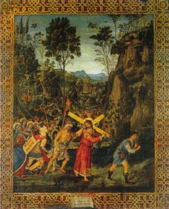 Pinturicchio Le chemin du calvaire 1513 51x42,5 cm Collection Borromée Isola Bella Image Wikimedia