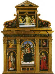 Pinturicchio Retable de l'église de Santa Maria dei Fossi Pérouse Image Wikimedia.it