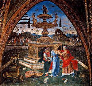 Pinturicchio Suzanne et les vieillards Appartement Borgia Salle des Saints Image Wimedia