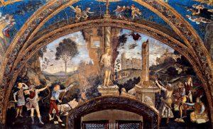Pinturicchio & collaborateurs Martyre de Saint Sebastien Appartements Borgia Image Wikimedia