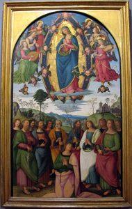 Pinturicchio et atelier Assomption Galleria Napoletana Museo di Capodimonte 1508 Image Wikimedia.it