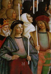 Pinturicchio Raphael et Pinturicchio au premier rang Canonisation de Catherine de Sienne Détail Fresque de la Libreria Piccolomini à Sienne Image Web Gallery of Art