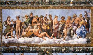 Raphael Farnesina l'assemblée des Dieux Image Web Gallery of Art