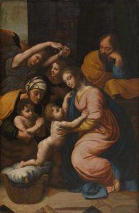 Raphael La grande Sainte Famille de François 1er Tableau réalisé par Raphaël et Jules Romain © musée des beaux-arts de Nantes, © Crédit photo © C. CLOS