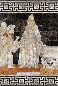 Représentation d'Hermès Trismegiste sur le parterre de la cathédrale de Sienne