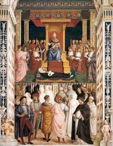Pinturicchio Canonisation de Catherine de Sienne Fresque de la Libreria Piccolomini à Sienne Raphael et Pinturicchio au premier rang Image Web Gallery of Art